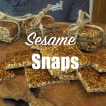 sesame snaps cooked with honey on a plate